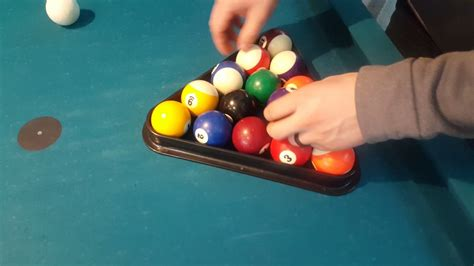 How To Rack In Pool how to properly place the balls in a rack for the pool