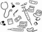 Coloring Medicine Tools Medical Doctor Printable Getcolorings sketch template