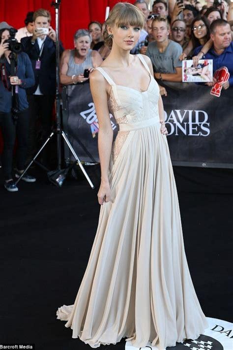 Taylor Swift White Chiffon Prom Celebrity Dress ARIA ...