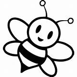 Bee Coloring Pages Bumble Cartoon Cute Honey Getcoloringpages sketch template