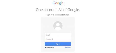 Gmail Account Login Page