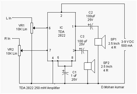 tda stereo audio amplifier circuit
