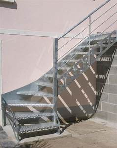 Escalier Métallique Industriel : photo dt72 esca 39 droit 1 4 tournant bas mod le d pos escalier ext rieur d 39 acc s terrasse ~ Melissatoandfro.com Idées de Décoration