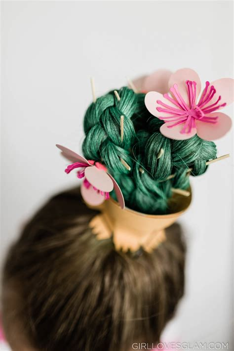cactus crazy hair day hairstyle girl loves glam