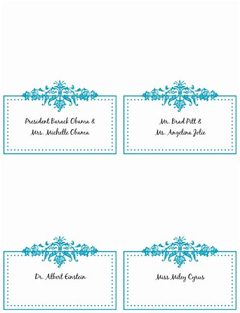 word templates  place cards lascazuelasphillycom