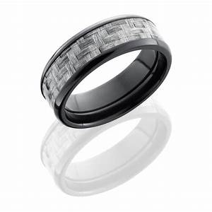 lashbrook zc8b15 silvercf polish carbon fiber wedding ring With carbon wedding rings