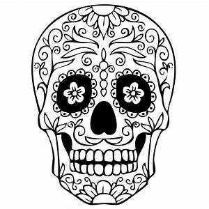 Free coloring pages of skull mask