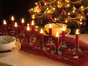 Bilder Lampen Mit Batterie : lunartec led stabkerzen 12 stimmungsvolle led akku kerzen mit edelstahl haltern rot weihnachten ~ Markanthonyermac.com Haus und Dekorationen