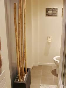 decoration salle de bain bambou With bambou pour salle de bain