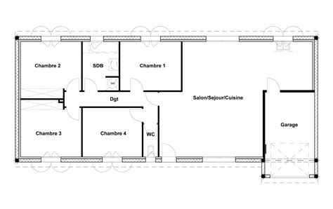 plan de maison 2 chambres plan de maison 110m2