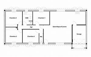 plans maison plain pied 3 chambres 59 best images about With plan maison 110m2 plain pied