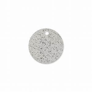 Metal round raw medals 15 mm rhodium tone x5 - Perles & Co