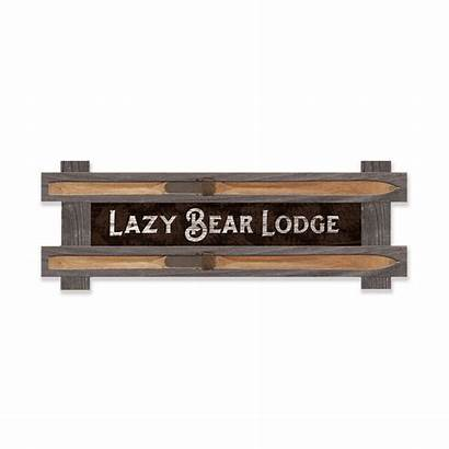 Lodge Welcome Framed Signs Wood