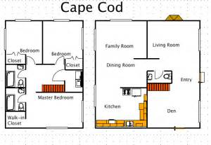 cape code house plans cape cod house style a free macdraft floor plan for the mac