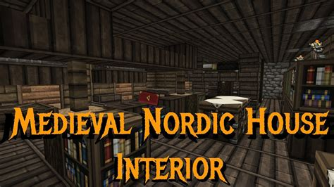 minecraft gundahar tutorials medieval nordic house  interior youtube