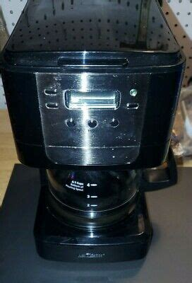 Hard to find a programmable coffee maker in this size. Mr. Coffee Advanced Brew 5-Cup Programmable Coffee Maker Black/Chrome 72179230915 | eBay