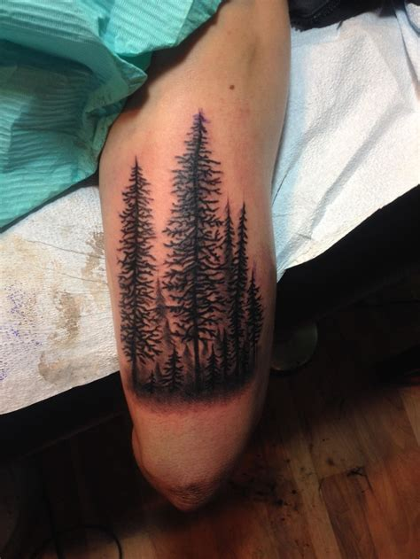 Forest on my arm, done by Joshua Dobbs @ 330 Main Tattoos