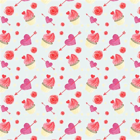 cute valentines pattern   vectors clipart