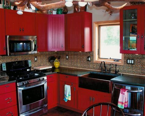 Red Country Kitchen ? Best Design for Big Small Kitchen
