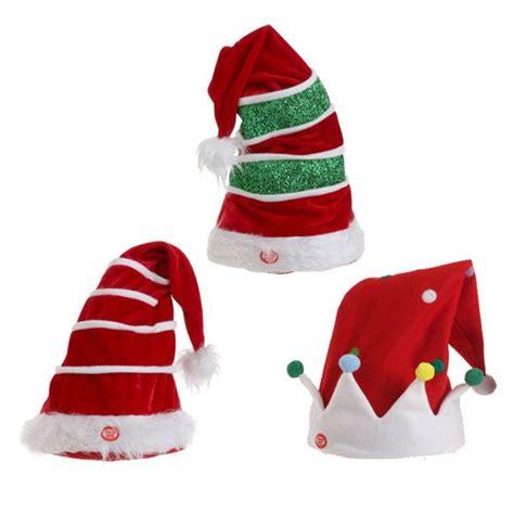 animated christmas tree hats animated muscial hat decoration set of 2 3223276 new raz imports hats