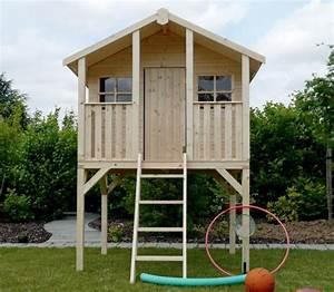 Maisonnette En Bois Sur Pilotis : cabane enfants solid 2 22 m sur pilotis ~ Dailycaller-alerts.com Idées de Décoration
