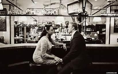 Bar Date Meet Kiss Couple Gifs Places