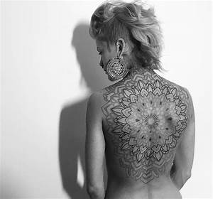 Full Mandala On Girl's Back | Best tattoo design ideas