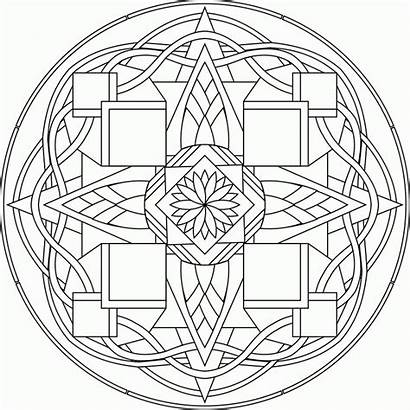 Coloring Mandala Pages Complicated Adults Mandalas Colouring