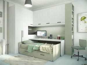 Lit Dans Armoire : armoire lit escamotable et lits superpos s chambre d 39 enfant ~ Premium-room.com Idées de Décoration