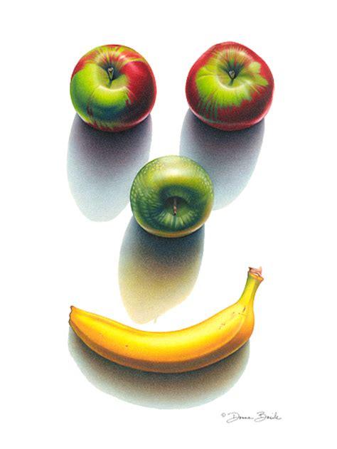 happy fruit shadows drawing  donna basile