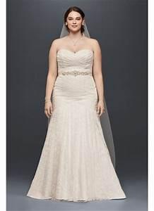 strapless mermaid plus size wedding dress david39s bridal With david s bridal simple wedding dresses