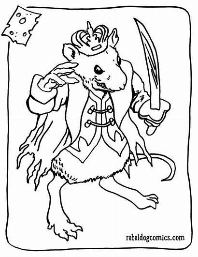 Coloring Nutcracker Pages Ballet Mouse King Printable