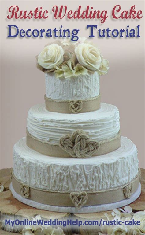 elegant rustic wedding cake tutorial  decorating