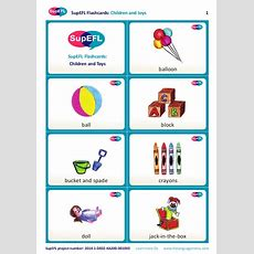 Supefl Flashcards Children And Toys (in English