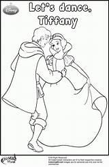 Coloring Pages Snow Prince Princess Disney Dancing Handsome Team Popular Coloringhome sketch template