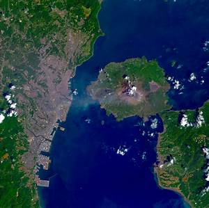 Landsat 8 Image Sakurajima Volcano | Satellite Imaging Corp