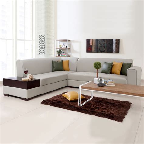 l shaped sofas alden leatherette l shape sofa left