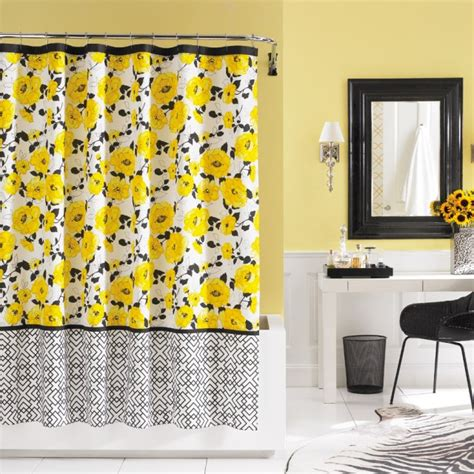yellow shower curtains black and yellow shower curtain furniture ideas
