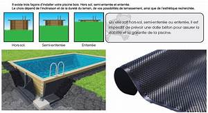 Enterrer Une Piscine Hors Sol : piscine bois ocea ubbink 470x860cm h 130cm liner bleu sable gris ~ Melissatoandfro.com Idées de Décoration