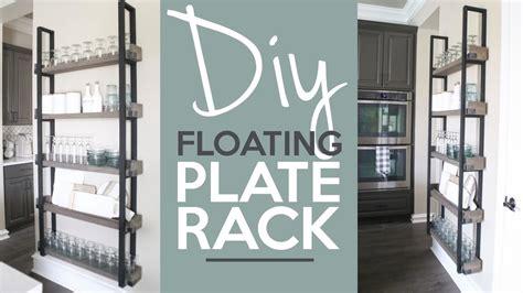 diy floating plate rack shantychic youtube