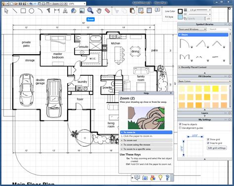 house plan floor best software home design and draw free