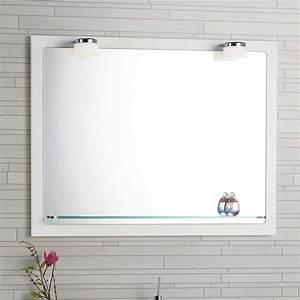 Spiegel Mit Led Rahmen : dansani mido spiegel mit rahmen glasablage und led beleuchtung 80x7 ~ Bigdaddyawards.com Haus und Dekorationen