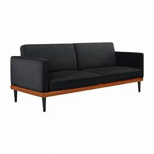 Sofa Aus Samt : giorgio 3 sitzer sofa aus samt grau und basis aus ~ Michelbontemps.com Haus und Dekorationen