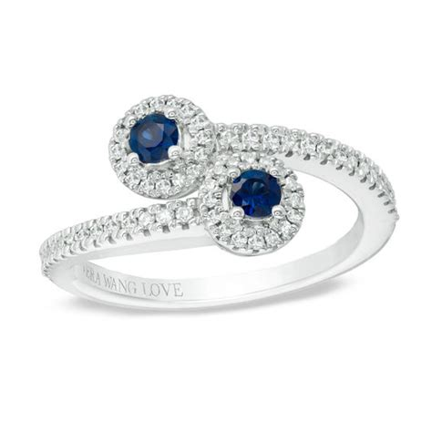 vera wang love collection blue sapphire   ct tw