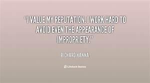 Quotes About Va... Reputation Worth Quotes