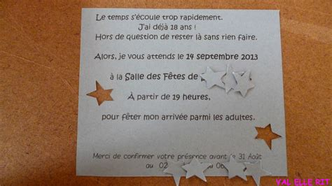 Exemple Invitation Anniversaire