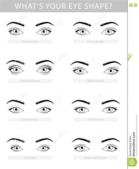 deep eyes template various types of woman eyes vector set stock vector
