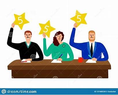 Judge Scorecard Clipart Jury Quiz Scorecards