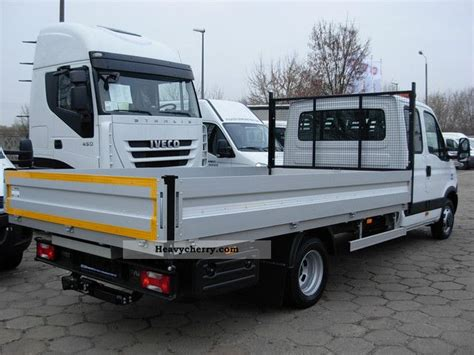 Iveco 50c15d Crew Cab Flatbed Euro5 2011 Stake Body Truck