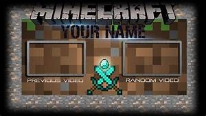 free minecraft outro template 6 youtube With minecraft outro template movie maker